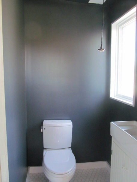 Walls/Ceiling: Benjamin Moore Gravel Gray Trim: Benjamin Moore Chantilly Lace